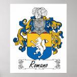 Escudo de la familia del romano impresiones