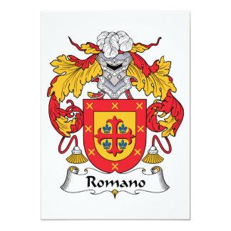 Escudo de la familia del romano invitaciones personalizada