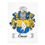 Escudo de la familia del romano invitación personalizada