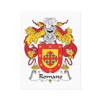 Escudo de la familia del romano lona envuelta para galerías