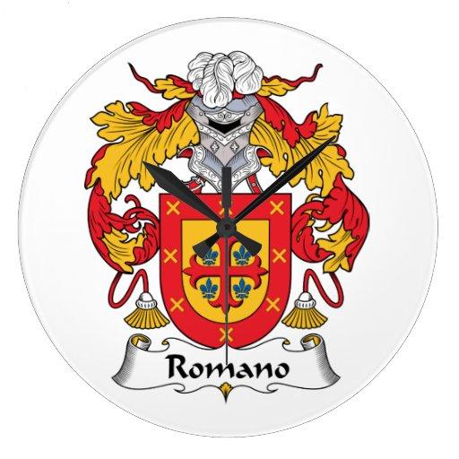 Escudo de la familia del romano reloj redondo grande