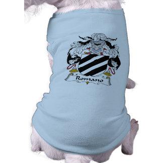 Escudo de la familia del romano camisetas de mascota