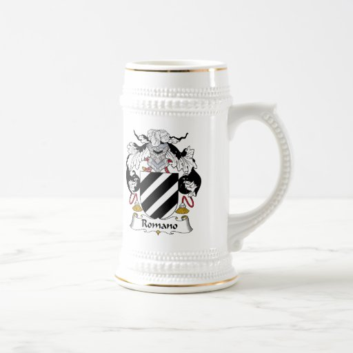Escudo de la familia del romano taza de café