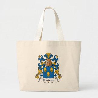 Escudo de la familia del Rondeau Bolsa De Mano