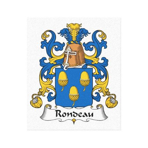 Escudo de la familia del Rondeau Lona Estirada Galerias