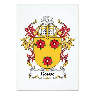 "Escudo de la familia del Rouse Invitación 5"" X 7"""