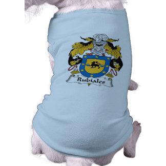 Escudo de la familia del Rubiales Playera Sin Mangas Para Perro