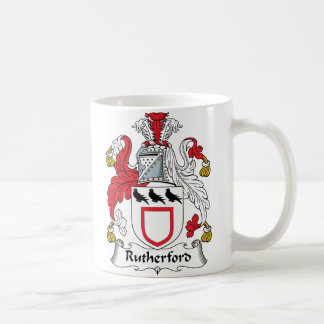 Escudo de la familia del Rutherford Taza De Café