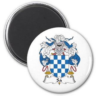 Escudo de la familia del Sa Imán Redondo 5 Cm