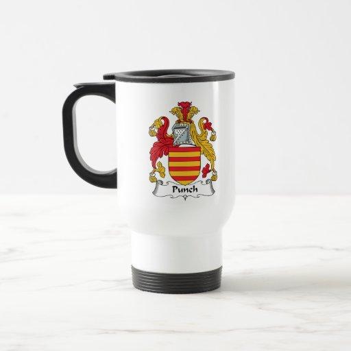 Escudo de la familia del sacador tazas de café