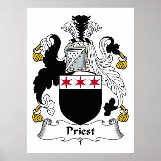 Escudo de la familia del sacerdote poster