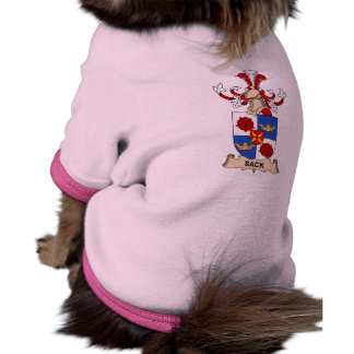 Escudo de la familia del saco camisetas de mascota