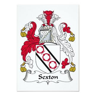 Escudo de la familia del sacristán comunicado