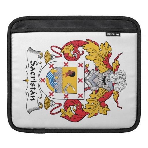 Escudo de la familia del sacristán mangas de iPad