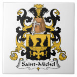 Escudo de la familia del Saint-Michel Azulejos Cerámicos