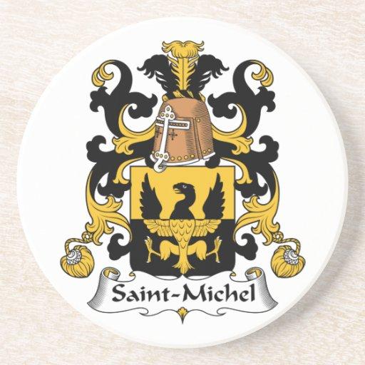 Escudo de la familia del Saint-Michel Posavasos Para Bebidas
