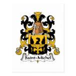 Escudo de la familia del Saint-Michel Tarjetas Postales