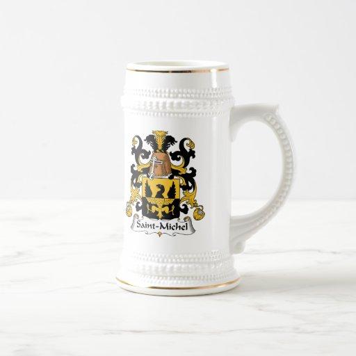 Escudo de la familia del Saint-Michel Tazas De Café