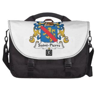 Escudo de la familia del Saint Pierre Bolsa De Ordenador