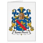 Escudo de la familia del Saint Pierre Tarjetón