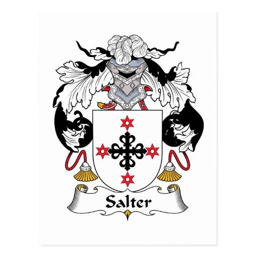 Escudo de la familia del salador tarjetas postales