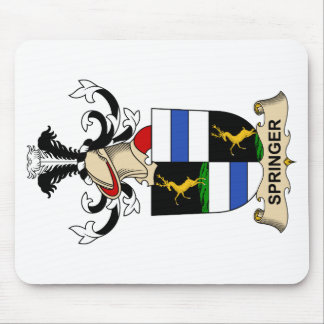 Escudo de la familia del saltador alfombrillas de raton