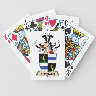 Escudo de la familia del saltador cartas de juego