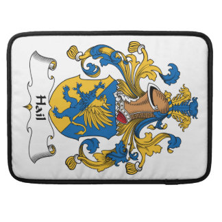 Escudo de la familia del saludo funda para macbooks