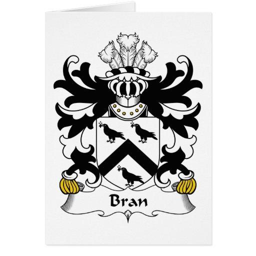 Escudo de la familia del salvado tarjeta de felicitación