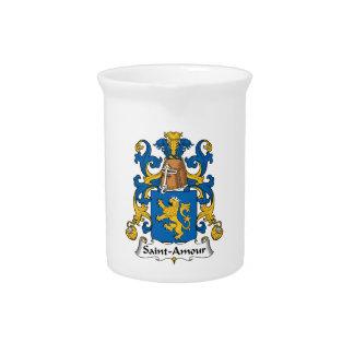 Escudo de la familia del Santo-Amorío Jarrones