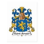 Escudo de la familia del Santo-Amorío Postales