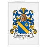Escudo de la familia del Santo-Ange Felicitaciones