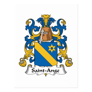 Escudo de la familia del Santo-Ange Postal