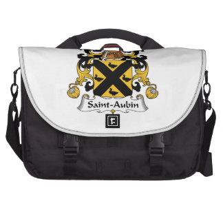 Escudo de la familia del Santo-Aubin Bolsas Para Portatil