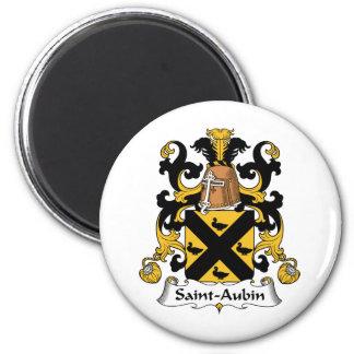 Escudo de la familia del Santo-Aubin Imán Redondo 5 Cm