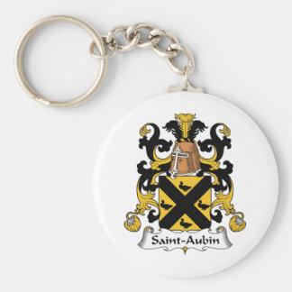 Escudo de la familia del Santo-Aubin Llavero Redondo Tipo Pin