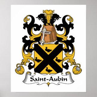 Escudo de la familia del Santo-Aubin Poster