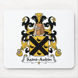 Escudo de la familia del Santo-Aubin Tapetes De Raton