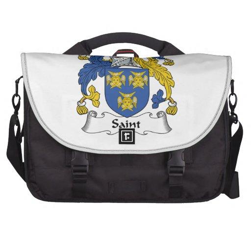 Escudo de la familia del santo bolsas de portátil