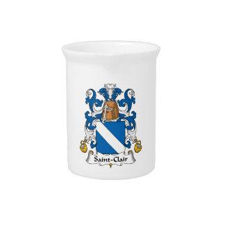 Escudo de la familia del Santo-Clair Jarra Para Bebida