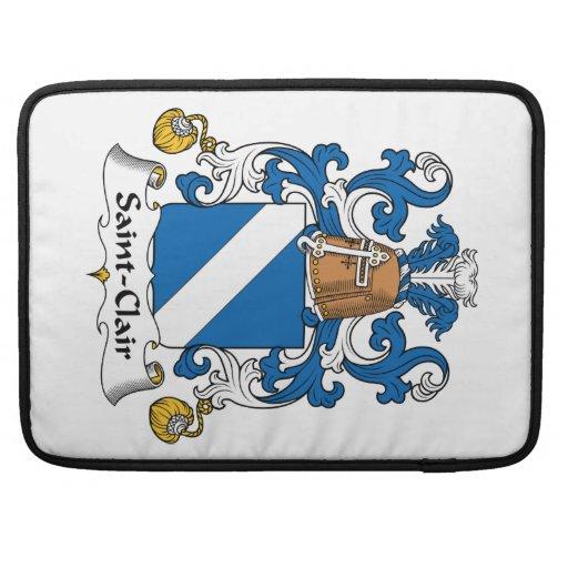 Escudo de la familia del Santo-Clair Funda Para Macbook Pro