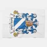 Escudo de la familia del Santo-Clair Toallas De Mano