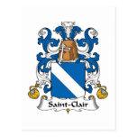 Escudo de la familia del Santo-Clair Postal