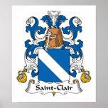 Escudo de la familia del Santo-Clair Posters