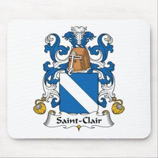 Escudo de la familia del Santo-Clair Alfombrillas De Ratón