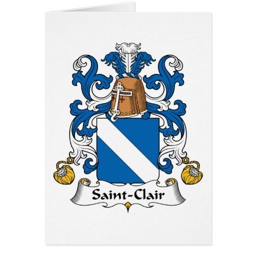 Escudo de la familia del Santo-Clair Tarjetón