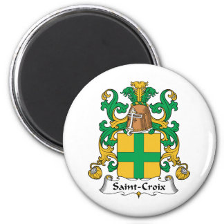 Escudo de la familia del Santo-Croix Imán Redondo 5 Cm