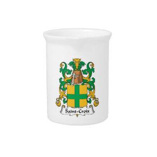 Escudo de la familia del Santo-Croix Jarras De Beber