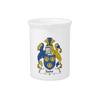 Escudo de la familia del santo jarra para bebida