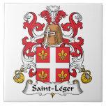 Escudo de la familia del Santo-Leger Azulejos Ceramicos
